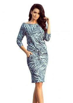 Ежедневна миди рокля в дънков цвят 13-87