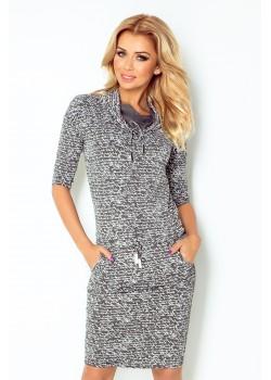 Ежедневна миди рокля в сиво 44-3