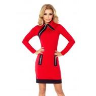 Ежедневна мини рокля с яка 129-3