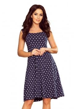 Ежедневна тъмносиня рокля на точки 241-1