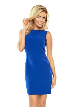 Класическа мини рокля в син цвят 159-2