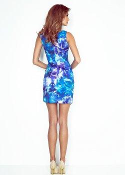 Асиметрична мини рокля с флорален мотив MM-004-1