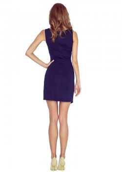 Асиметрична мини рокля в тъмносиньо MM-004-2