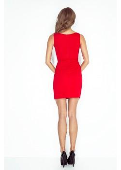Елегантна асиметрична мини рокля MM-004-4