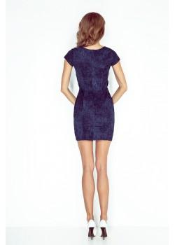 Елегантна мини рокля в синьо MM-010-2