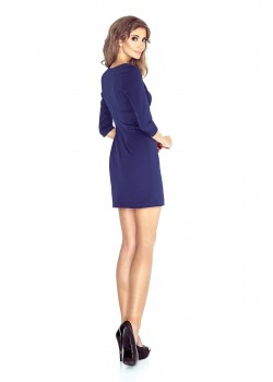 Елегантна къса рокля с 3/4 ръкав MM-019-1