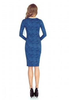 Елегантна миди рокля с V-образно деколте MM-020-2
