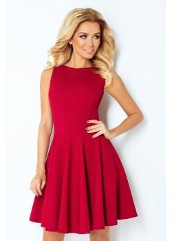 Миди рокля в цвят бордо 125-1