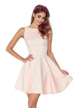 Миди рокля в цвят пракова 125-14