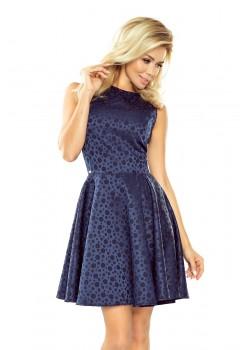 Миди рокля в тъмносин цвят 125-22