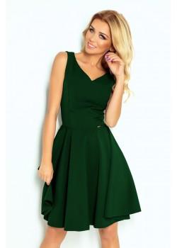 Миди рокля в зелен цвят 114-10