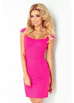 Мини рокля в цвят малина 118-3