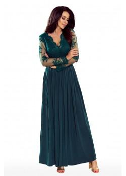 Официална дълга рокля в зелено 213-1