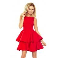 Официална къса рокля в червено 169-1