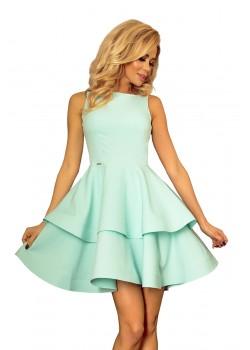 Официална къса рокля в минт цвят 169-4