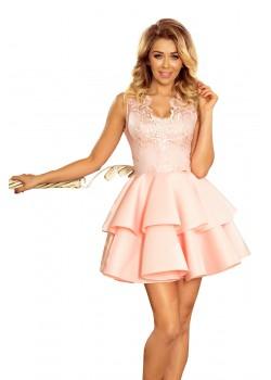 Официална рокля в пастелно розов цвят 207-3