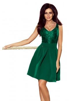 Официална зелена рокля 208-4