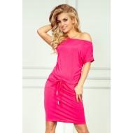Розова мини рокля 56-1