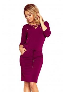 Спортна рокля в лилав цвят 230-1