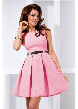 Стилна мини рокля с колан 6-5