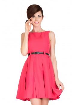 Стилна мини рокля с колан 6-8