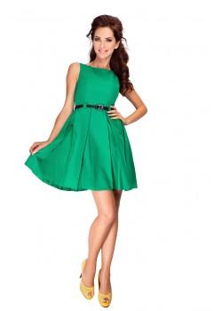 Стилна мини рокля с колан 6-12