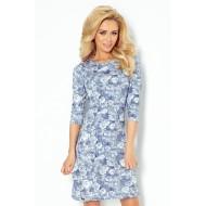Синя миди рокля 88-7