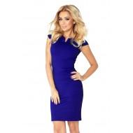 Синя мини рокля 132-1