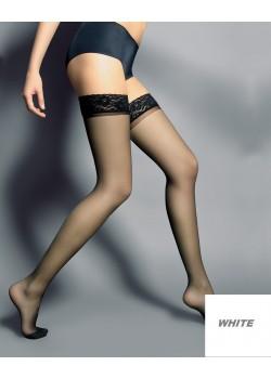Дамски дълги чорапи в бял цвят Silvi Bianco 15 DEN