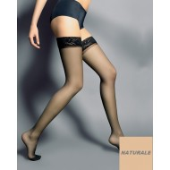 Дамски дълги чорапи в телесен цвят Silvi Naturale 15 DEN