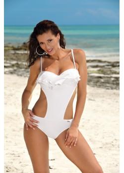 Цял бански костюм в бял цвят Belinda M-548-10