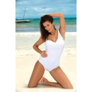 Цял бански костюм в бял цвят Gabrielle M-543-1