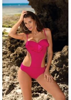 Цял бански костюм в цвят роза Belinda M-548-7
