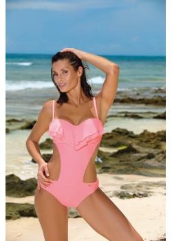 Цял бански костюм в пастелно розов цвят Belinda M-548-13