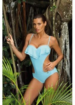 Цял бански костюм в пастелносин цвят Belinda M-548-3