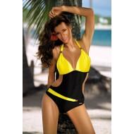 Цял бански костюм в жълто Beatrix M-337-14