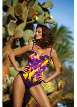 Цял бански костюм във виолетово Hellen M-496-1