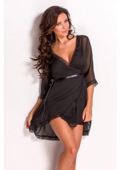 Еротичен халат в черен цвят Chanice