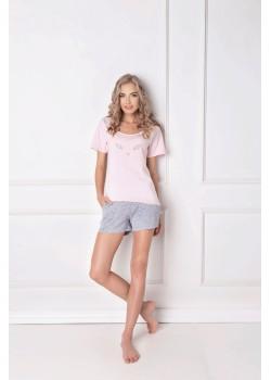 Памучна дамска пижама в розов цвят Wild