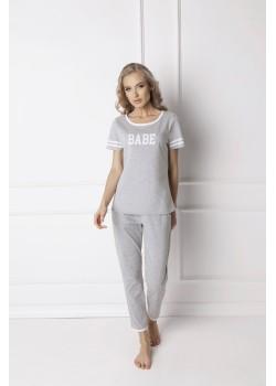 Памучна пижама в светлосив цвят Babe