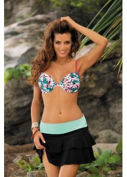 Плажна пола в черно Mila M-334-18
