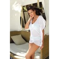Плажна туника в бял цвят Kaya M-516-1