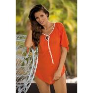 Плажна туника в оранжево Lily M-339-20