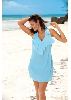 Плажна туника в пастелносин цвят Erin M-515-4