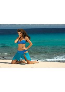 Плажно парео в син цвят