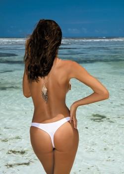 Плажни прашки Irina M-02 в бял цвят